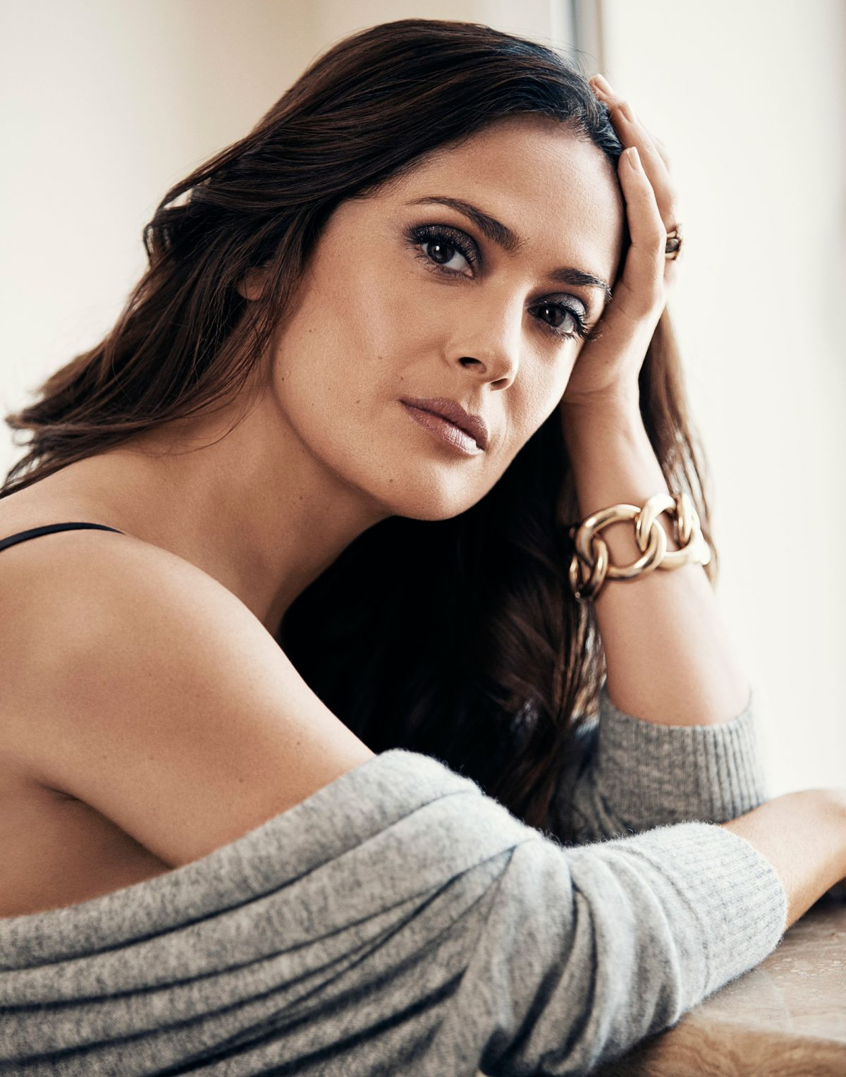 Salma Hayek Photo Shoot for Evening Standard, September 2015 Issue by Jason Kim