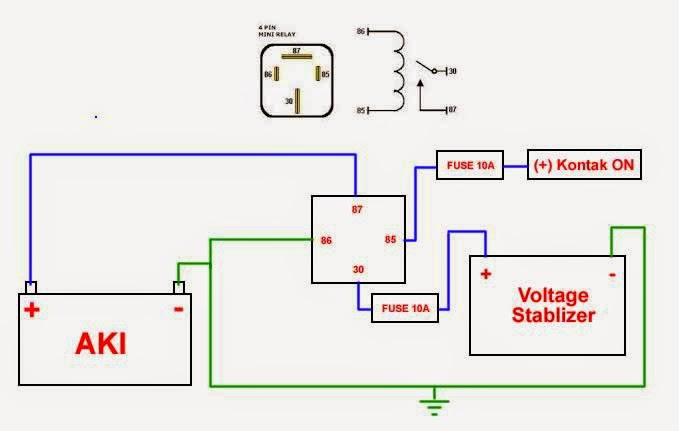 Diy tambah relay power window aerio diy volt stabilizer relay untuk ccuart Images