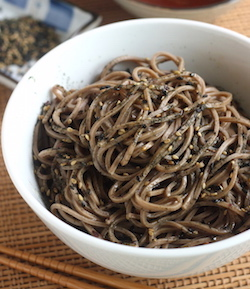 soba noodles with furikake recipe by seasonwithspice.com