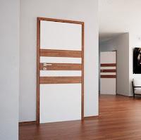 """Drzwi wewnętrzne Classen """"Doors & Floors"""" z elementami paneli podłogowych"""