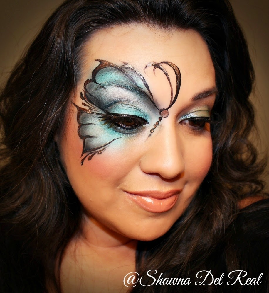 Shawna D. Make-up Butterfly Airbrush Face Painting Tutorial