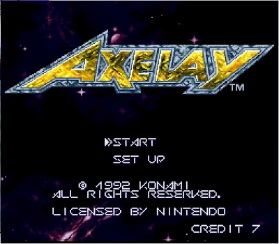 Axelay title screen