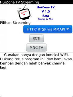 Nonton TV Online Via BlackBerry – HuiZone TV