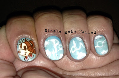 Pedro Disney Cartoon Nail Art