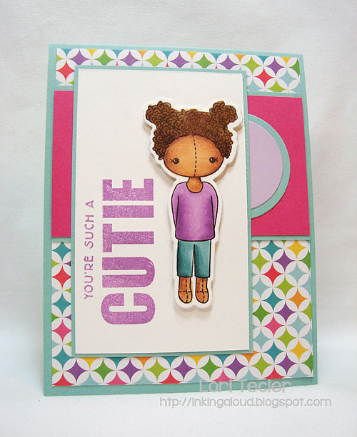 You're Such a Cutie-designed by Lori Tecler-Inking Aloud-stamps and dies from Clear and Simple Stamps