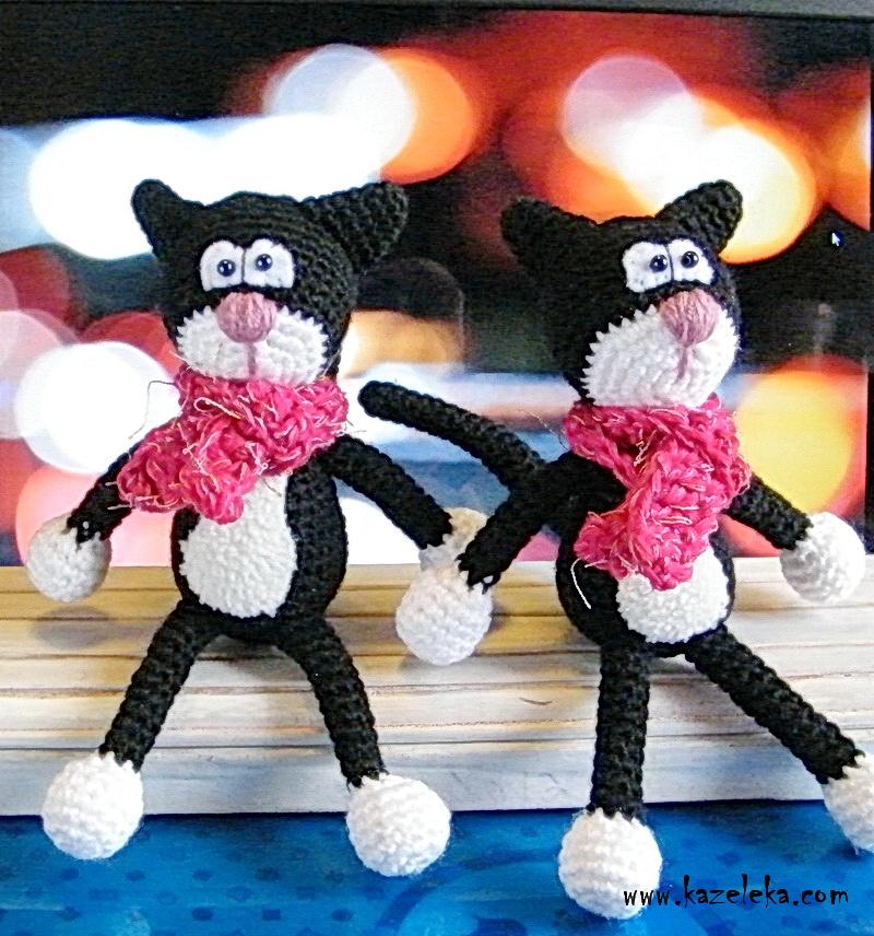 crochet black cats - вязаные черные коты
