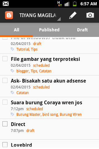 Cara menghilangkan notif Schedule di blogger Android