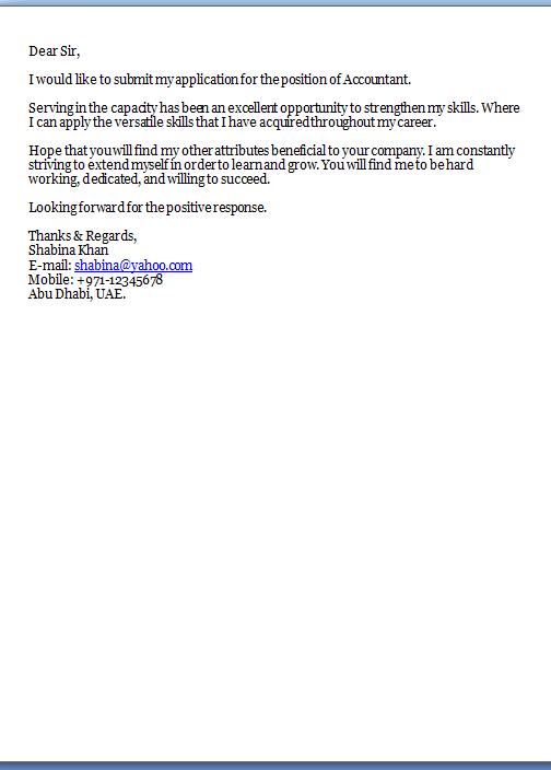 Sample Email Job Application Letter Pdf - diepieche.tk