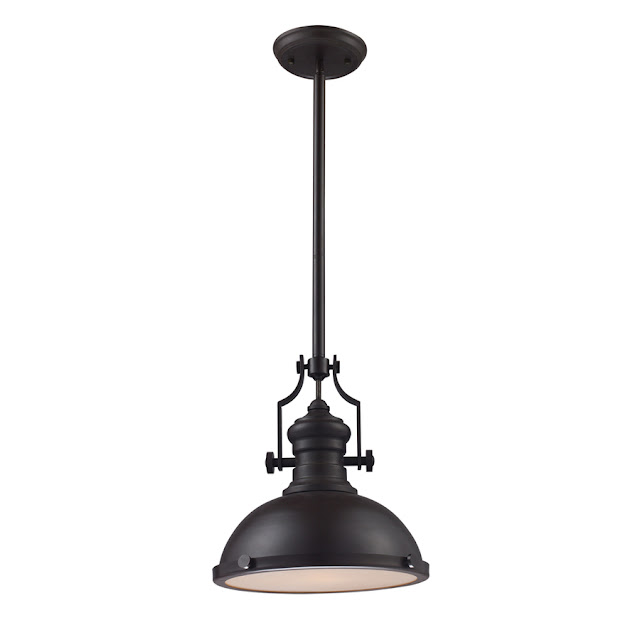 LOWE'S PORTFOLIO 13-IN W OILED BRONZE PENDANT LIGHT