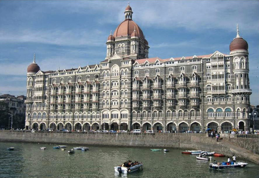 Rear view of the Taj Mahal Palace Hotel