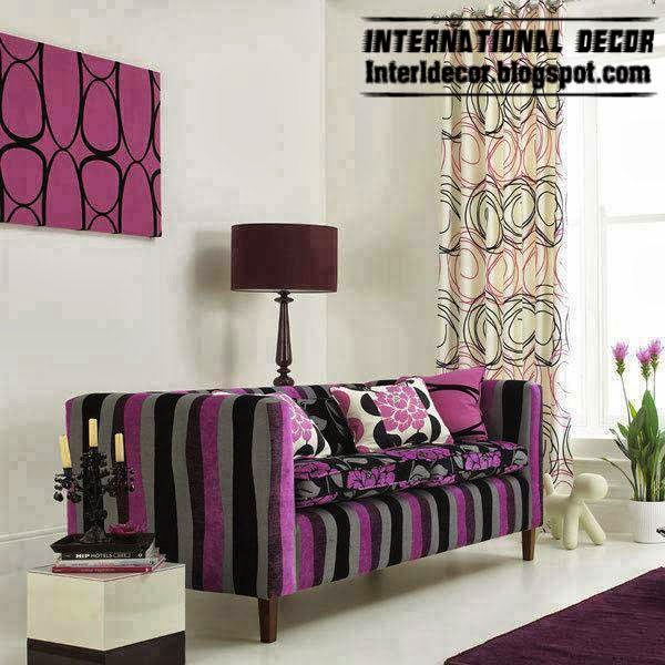 Luxury Purple Furniture Sets Sofas Chairs For Living Room Interior Designs