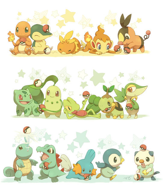 pokemon all starters pokemon