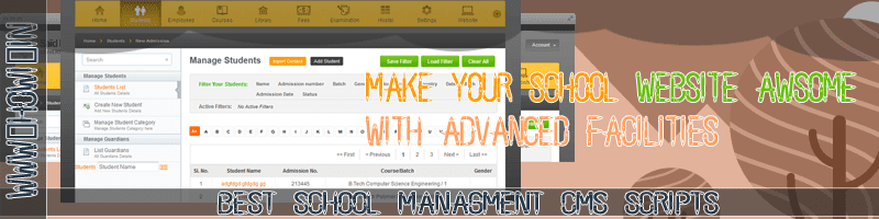 Best School Management Php CMS Scripts