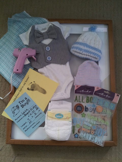 Mama Baby And Diapers Diy Day Newborn Keepsakes Shadow Box