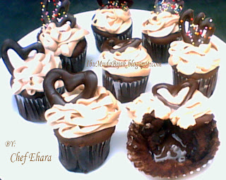 Coffee Cupcake with Chocolate Surprise