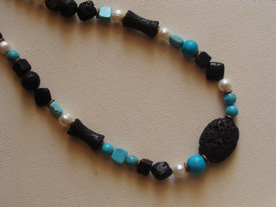 foto hand made jewels Φωτεινή Μάμαλη  Κολιέ με λάβες 8386fa0d884