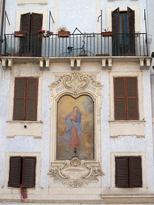 rome italy shutters mary fresco