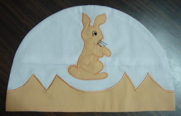 Rabbit Applique Machine Embroidery Design Applique