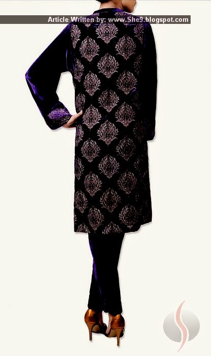 Royal Pakistani Velvet Suit Fashion
