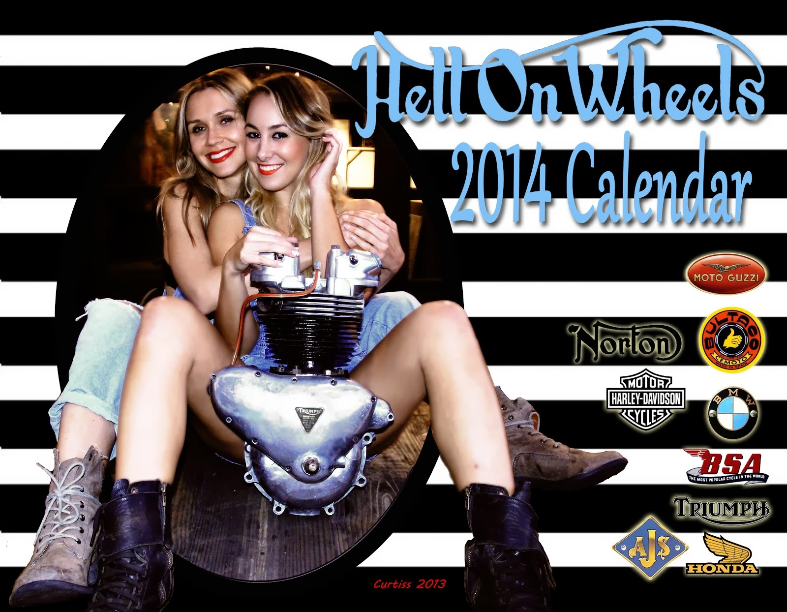 2014 Hell On Wheels Calendar