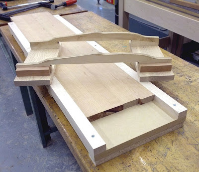 This router jig makes a NACA 0009 foil with a two point contact router ...