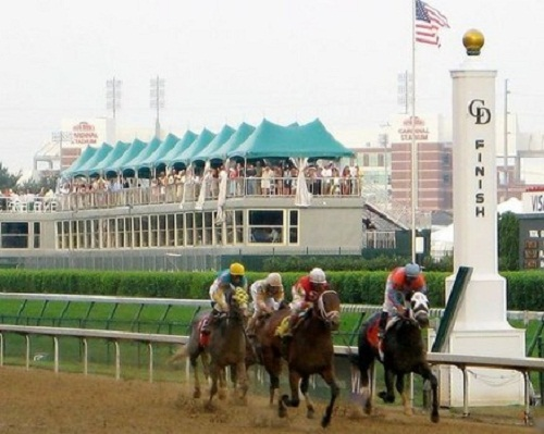 Kentucky Derby Churchill Downs finish line