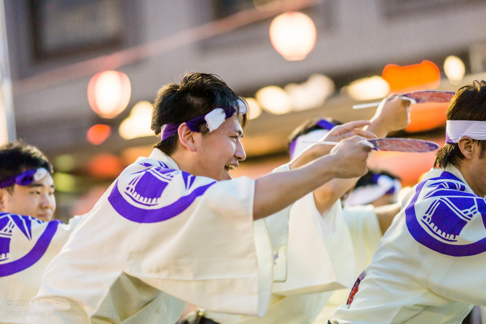 踊れ西八夏まつり、若駒連の男踊り