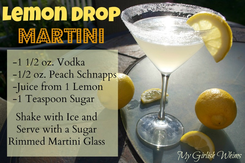 How to make a lemon drop martini my girlish whims for How to make martini cocktail