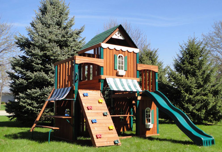 Have Fun This Summer With Swing-N-Slide Juneau Wood Complete Play Set ...