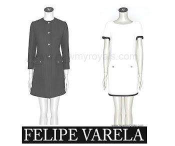 Queen Letizia Style FELIPE VARELA Raw Wool Dress and Coat