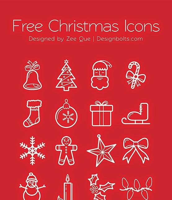 Christmas Icons | PNGs & Vector Ai + EPS Files