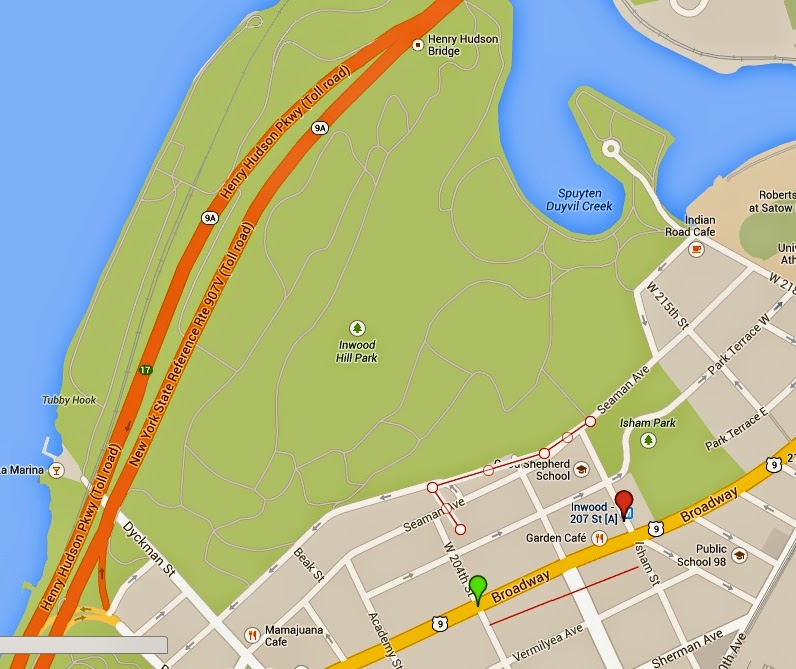 Inwood Hill Park Map
