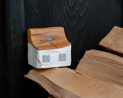domki z drewna dekoracja inspiracja DIY