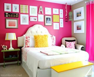 decorar quarto de menina rosa