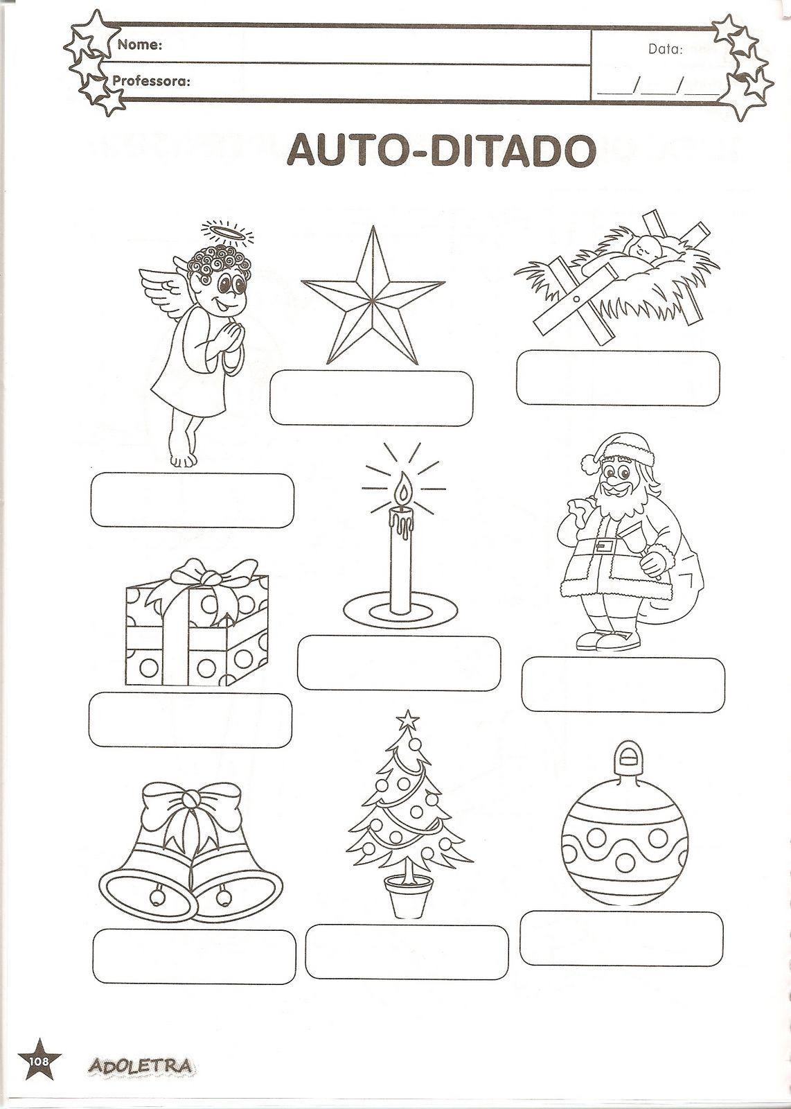 Atividades De Natal  Auto Ditado E Ca  A Palavras E Muito Mais