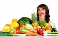 buah segar dan sayuran hijau