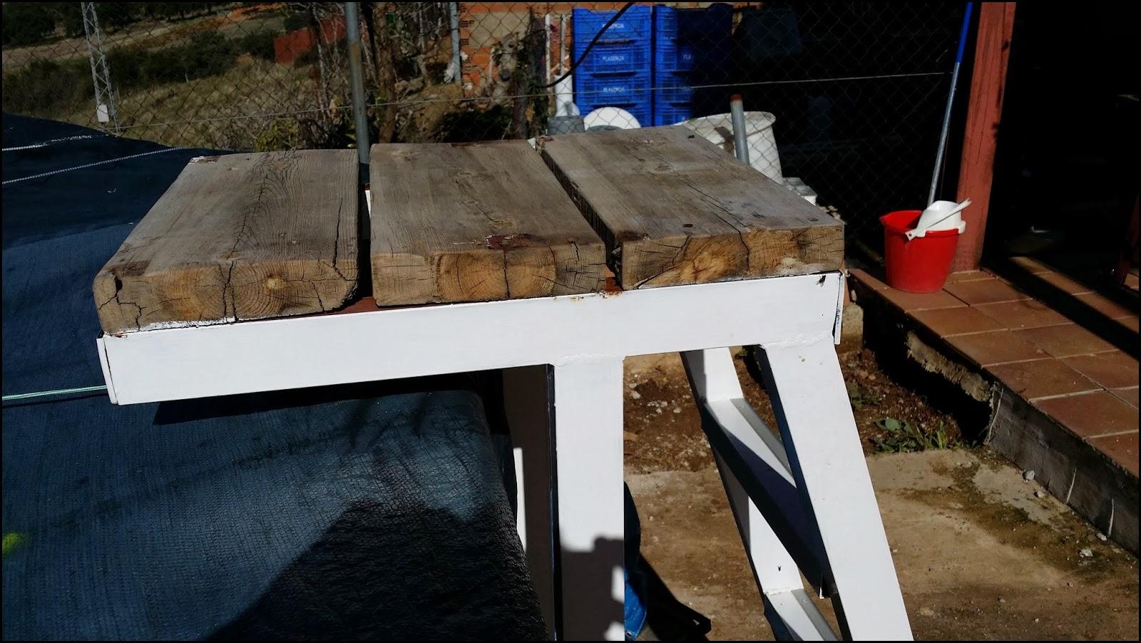 Inventandolo escalera piscina desmontable for Construir escalera piscina