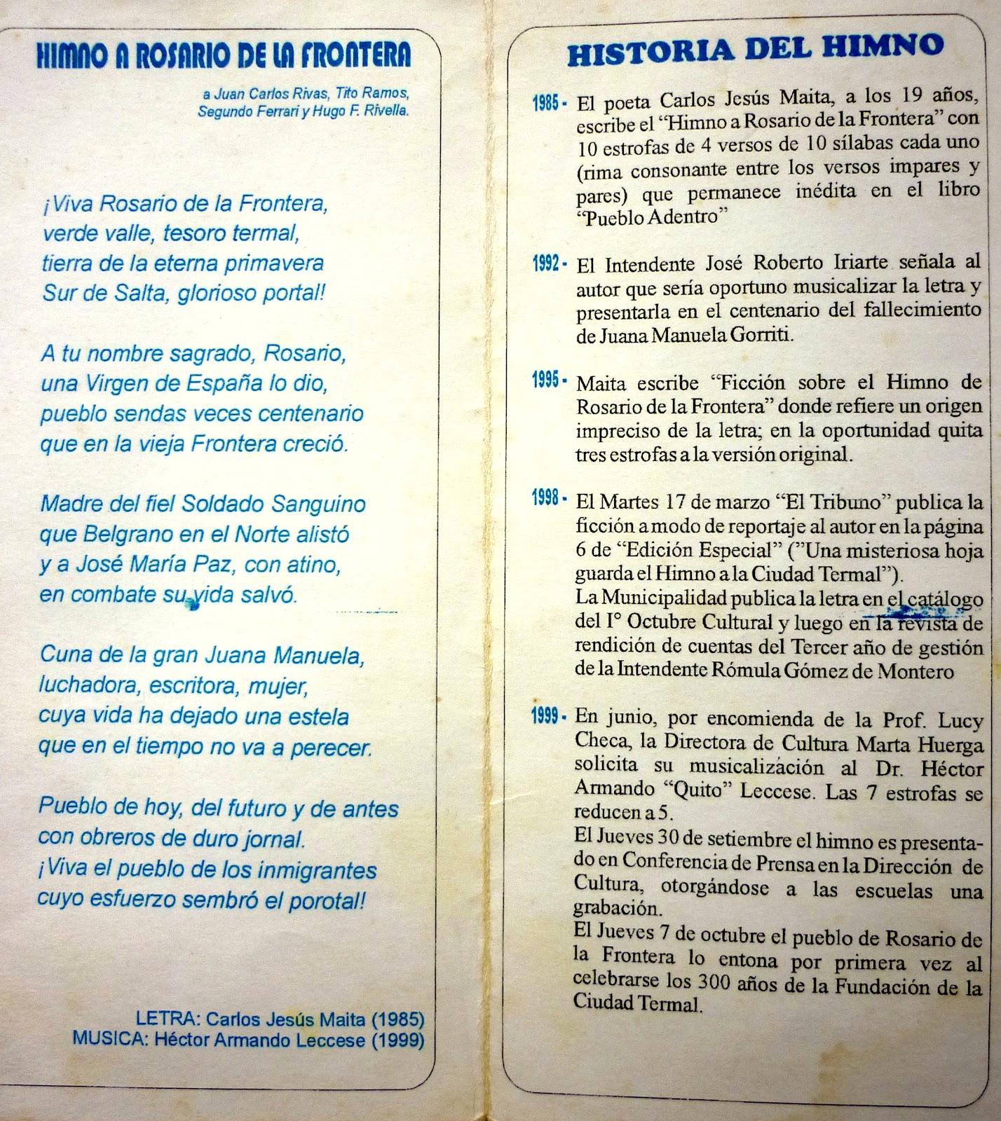 Carlos Jes S Maita Rosario De La Frontera 2012 05 13 -> Sala De Ensayo Tv Rosario