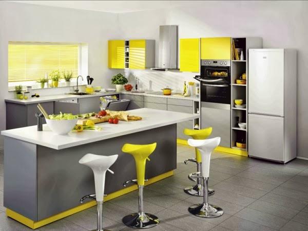 Decoracion En Gris Y Amarillo ~ 10 fotos de cocinas en gris y amarillo  Colores en Casa