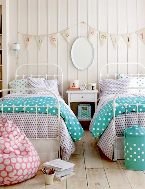 Chicdeco blog 10 dormitorios con camas de hierro - Cama doble para ninos ...