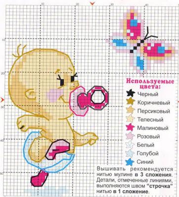Детские схемы для вышивки. крестом