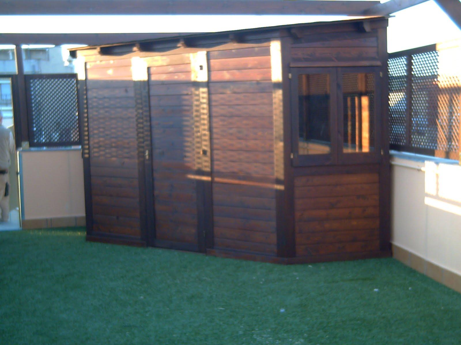 Ca uelo e hijos carpinteria s c p terraza y jardin for Caseta madera terraza