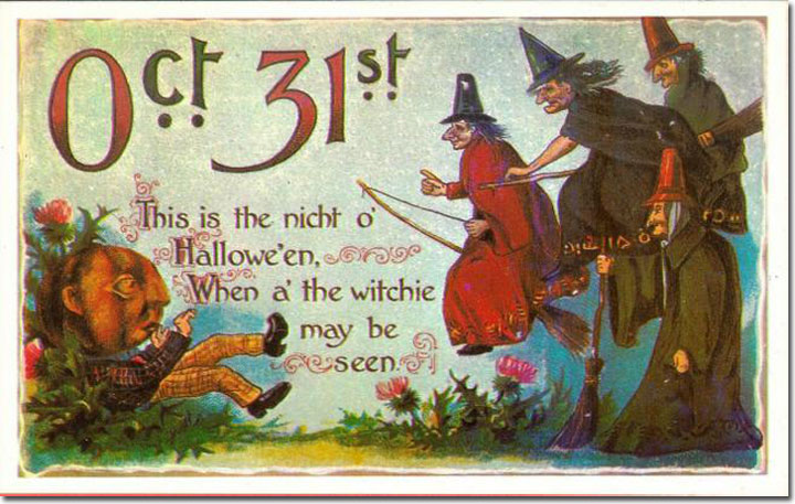 Witch pics happy halloween antique greeting cards happy halloween antique greeting cards bookmarktalkfo Images