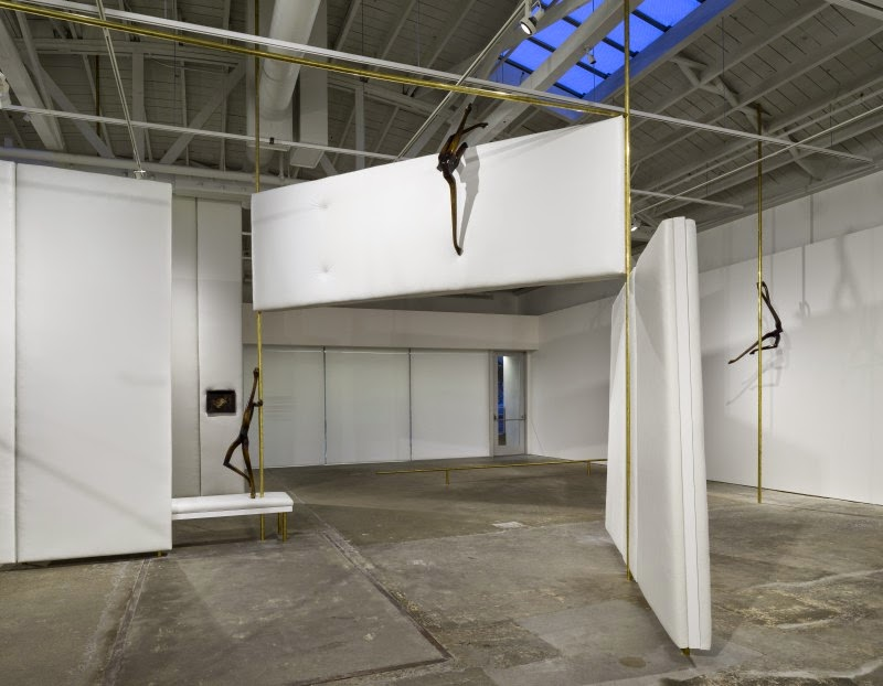 Markus Schinwald, installation view. CCA Wattis Institute for Contemporary Arts. Photo by Johnna Arnold.