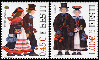 Estonia: Saaremaa Folk Costumes - www.post.ee