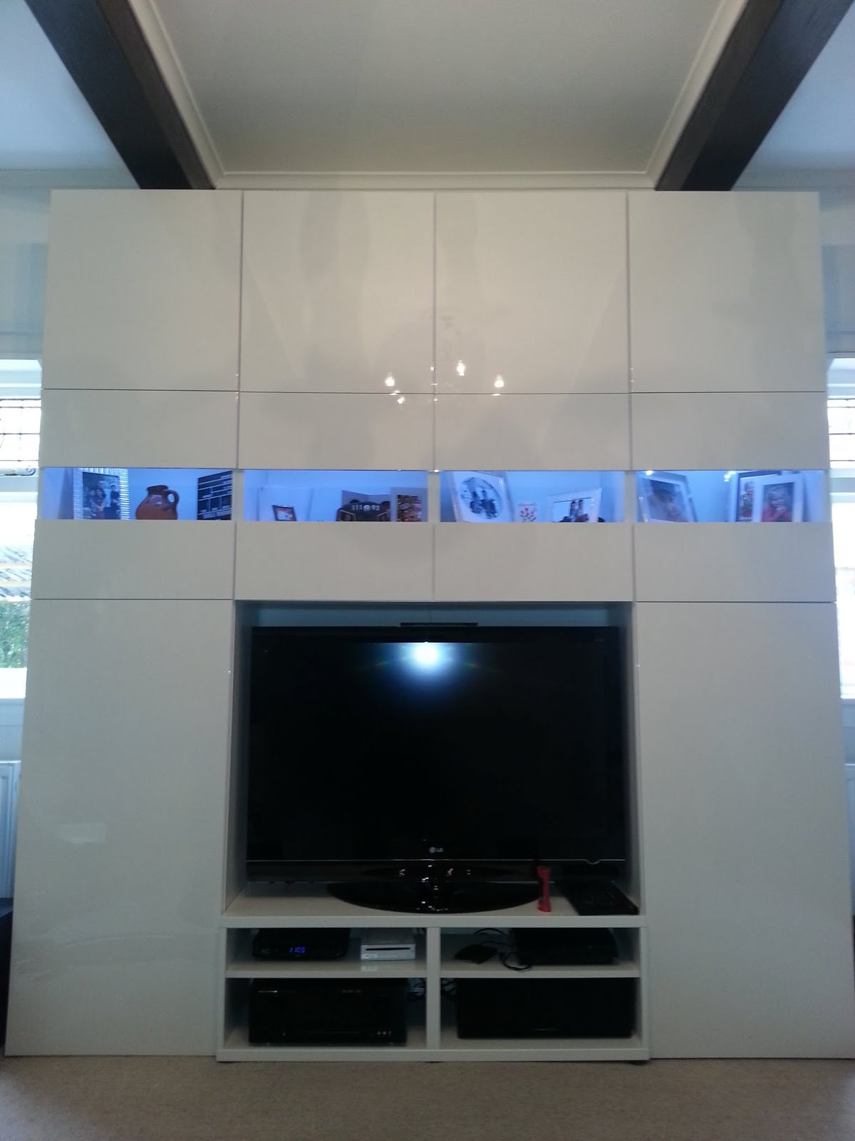 Full Wall Besta Media Unit IKEA Hackers