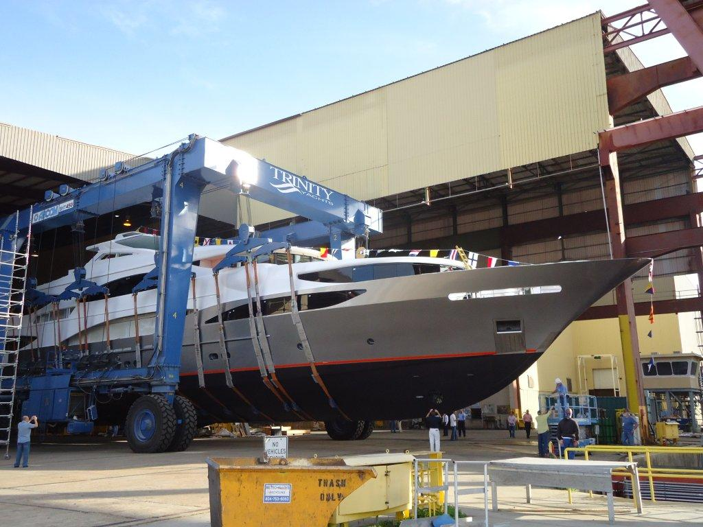 Trinity Yachts in Gulfport, Mississippi launched their first yacht of 2012 ...