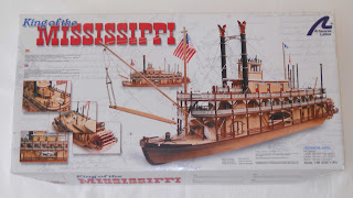 kit de construcción de maqueta a escala king of the mississippi de la marca artesania latina