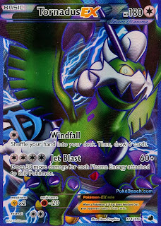 Tornadus EX Full Art Plasma Freeze Pokemon Card