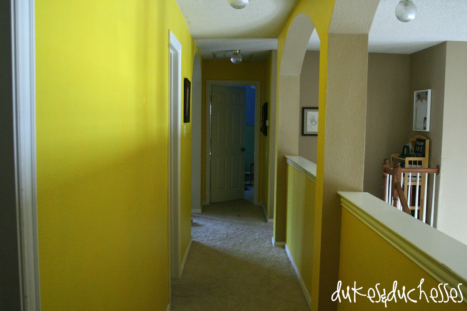 A Painted Hallway and Tips on Paint Coverage - Dukes and Duchesses